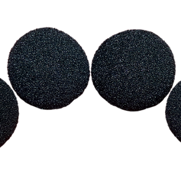 3 inch Regular Sponge Ball (Black) Pack of 4 from Magic by Gosh