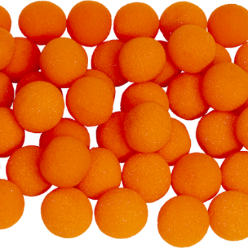 1.5 inch Super Soft Sponge Balls (Orange) Bag of 50 from Magic By Gosh