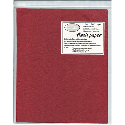 Flash Paper five pack (25 cm x 20cm) Red