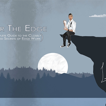 Over The Edge Blue by Landon Swank