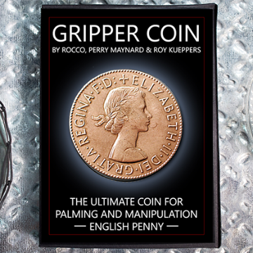 Gripper Coin (Single/English Penny) by Rocco Silano