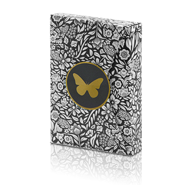 Butterfly Playing Cards (Black and Gold) by Ondrej Psenicka