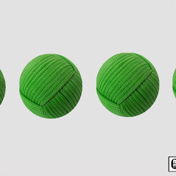 Rope Balls 1 inch / Set of 4 (Green) by Mr. Magic