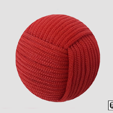 Rope Ball 2.25 inch (Red) by Mr. Magic