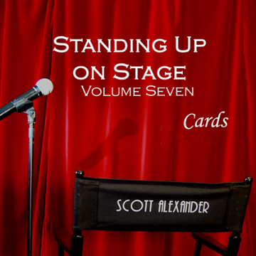 Standing Up On Stage Volume 7 Cards  by Scott Alexander