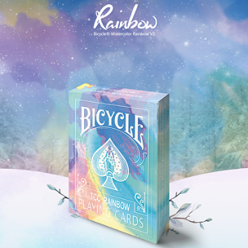 Bicycle Rainbow (Cedar) Playing Cards by TCC