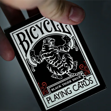 Bicycle Black Tiger Red Playing Cards