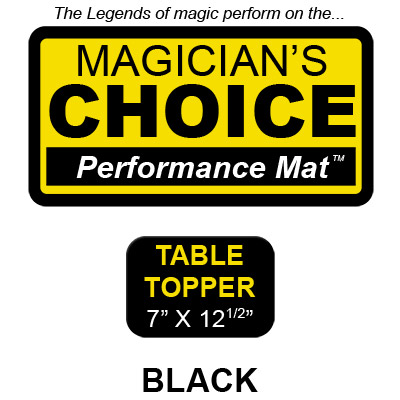 Table Topper Close-Up Mat (BLACK - 7 x 12.5) by Ronjo