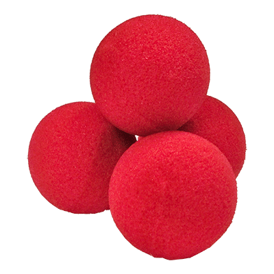 2 inch High Density Ultra Soft Sponge Ball (Red) Pack of 4 from Magic by Gosh