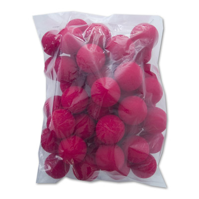 1.5 inch Super Soft Sponge Balls (Red) Bag of 50 from Magic by Gosh