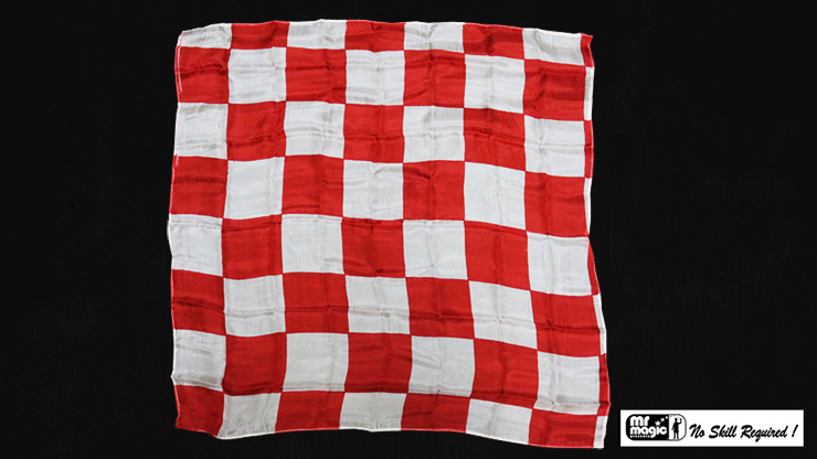 Production Hanky Chess Board Red and White (21' x 21') by Mr. Magic