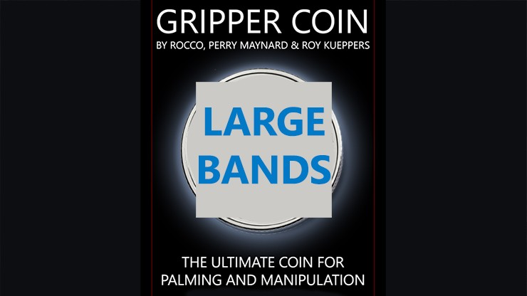 Gripper Coin Bands (Large) by Rocco Silano