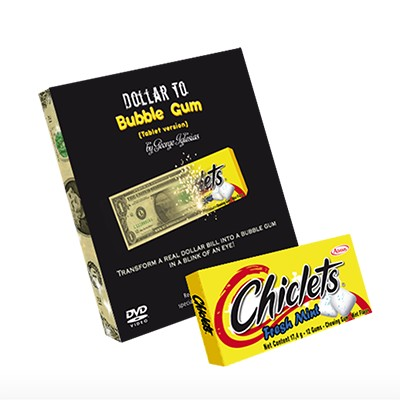Dollar to Bubble Gum (Chiclets) by Twister Magic