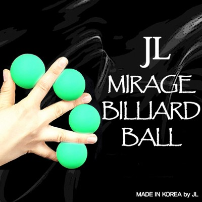 Mirage Billiard Balls by JL (GREEN, 3 Balls and Shell)