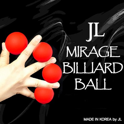 Mirage Billiard Balls by JL (RED, 3 Balls and Shell)