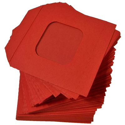 Nest of Wallet Refill Envelopes 50 units (Red with Window)