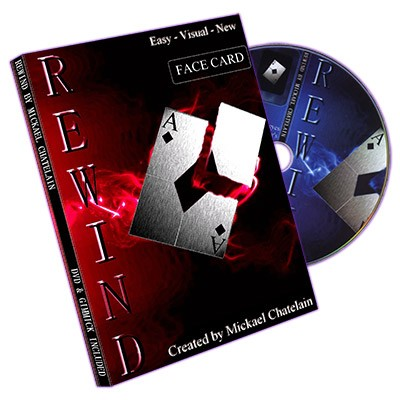 Rewind (Gimmick, DVD, FACE card, RED back) by Mickael Chatelain